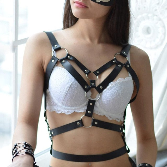 Brownie Strappy Leather Restraint Harness