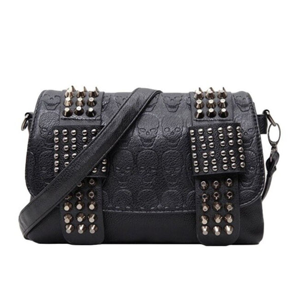 Women Rivet Crossbody Vintage Handbag