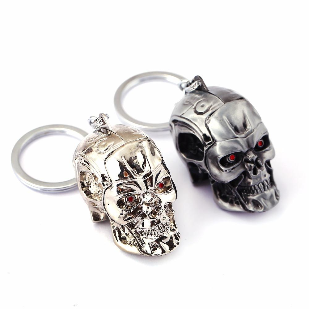 Terminator Skull Keychain - BLACK RABBIT GOTHIC FASHION