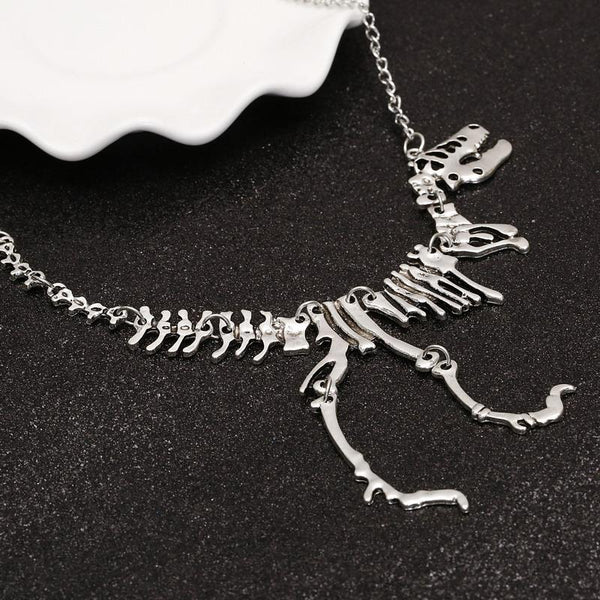 Tyrannosaurus Rex Skeleton Necklace - BLACK RABBIT GOTHIC FASHION