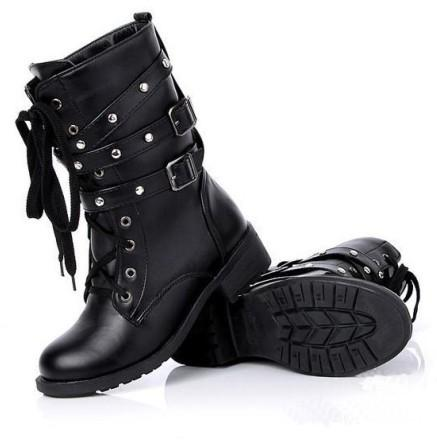 ATTILA'S BUCKLE WINTER BOOTS - BLACK RABBIT STORE