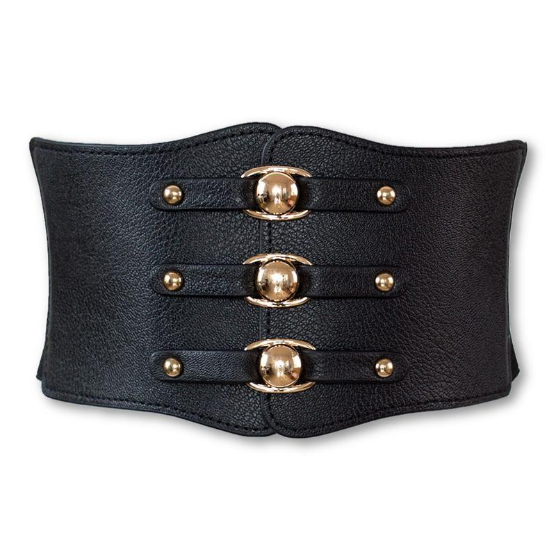 Quinn Power Leather Underbust - BLACK RABBIT STORE