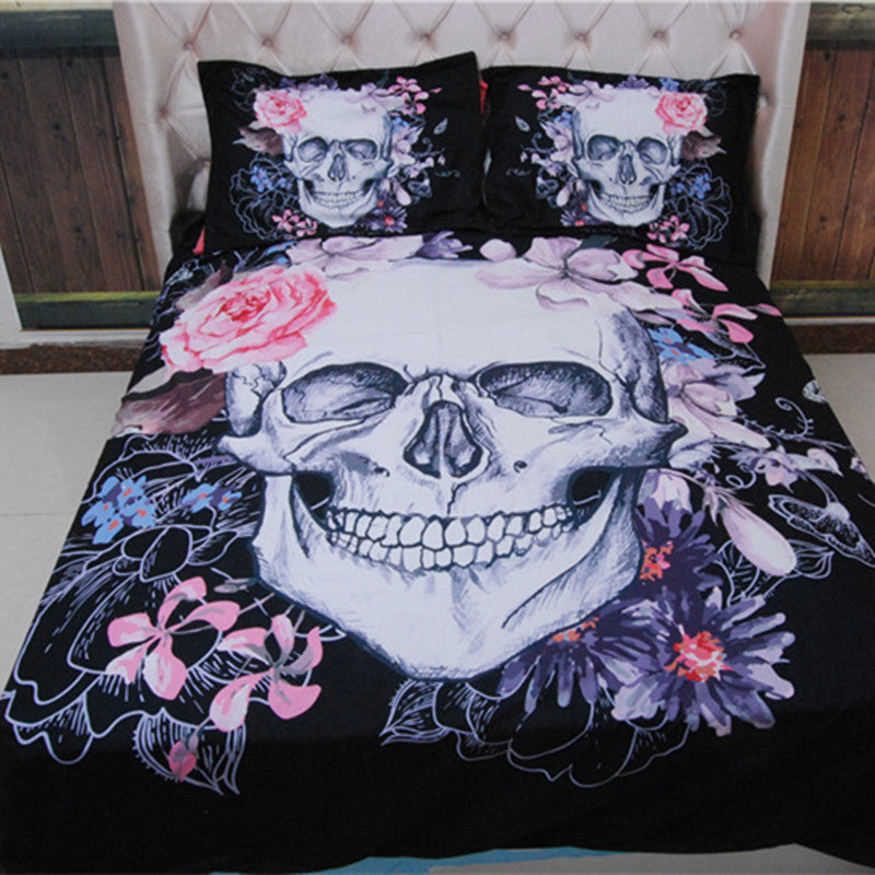 Skull Bedding Set - BLACK RABBIT STORE