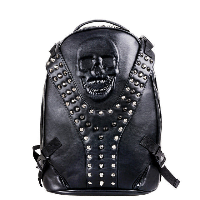 SKULL SPIKED BACKPACK