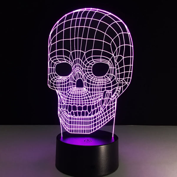 3D Skull Night Light - BLACK RABBIT STORE