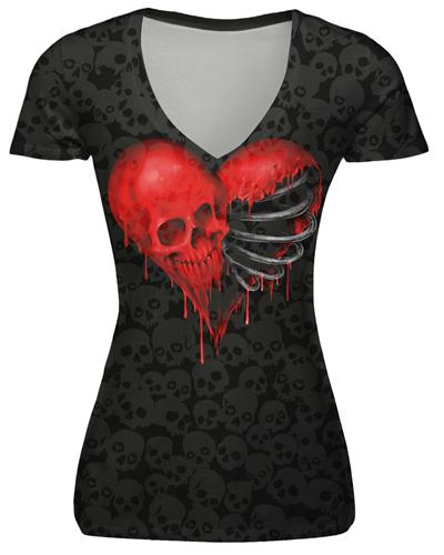 Slim Skull T Shirt - BLACK RABBIT GOTHIC FASHION