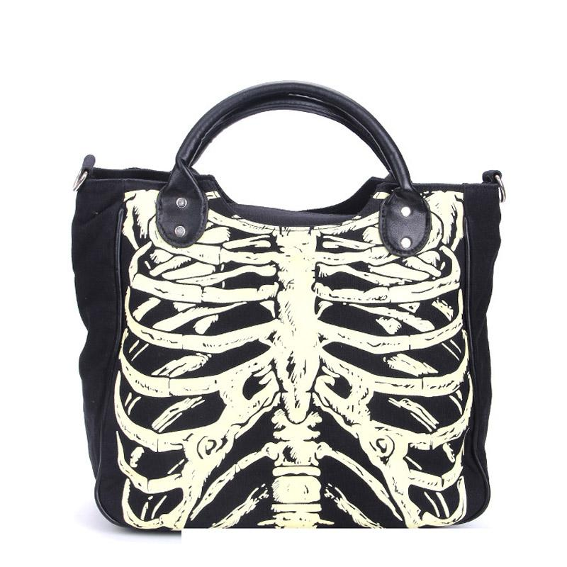 Ribcage Gothic Shoulder Bag - BLACK RABBIT STORE