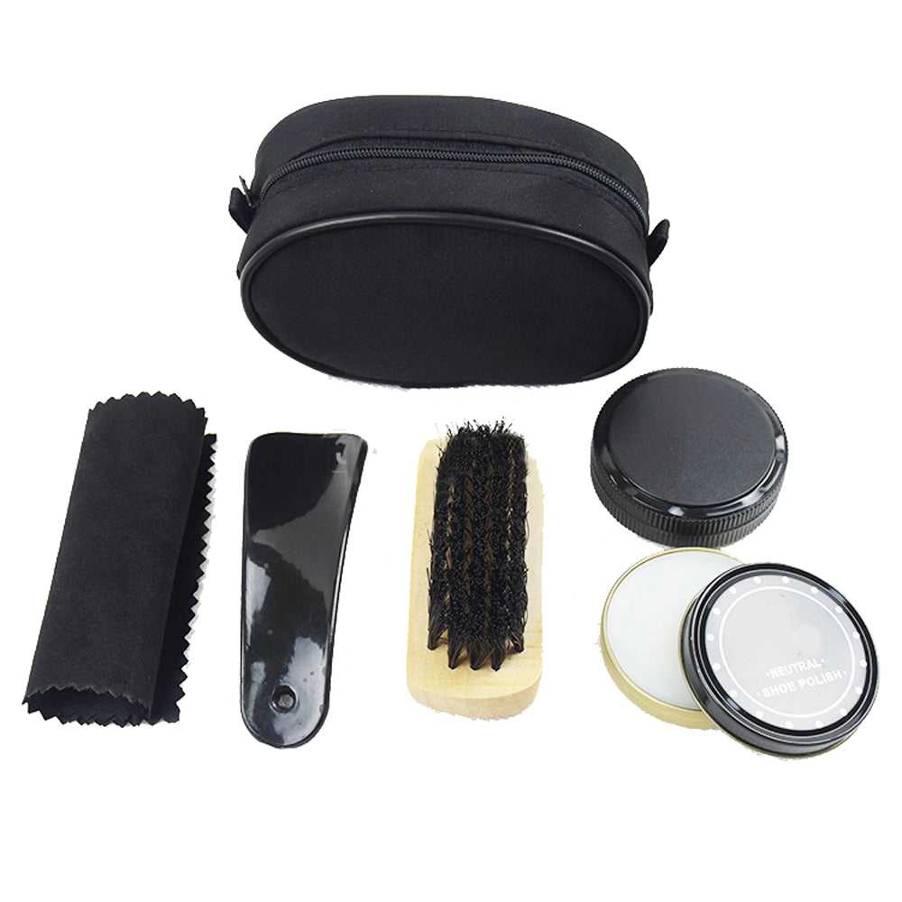 Basic Shoe Shine Care Kit - Six Pieces - BLACK RABBIT STORE