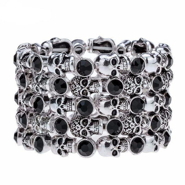 Skull World Bracelet - BLACK RABBIT GOTHIC FASHION