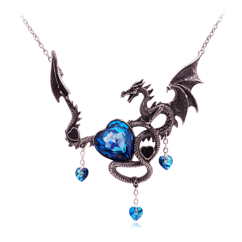 Crystal dragon heart necklace mozeypictures Gallery