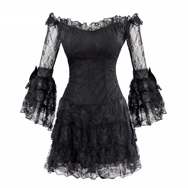 Black Spade Mini Dress - BLACK RABBIT STORE