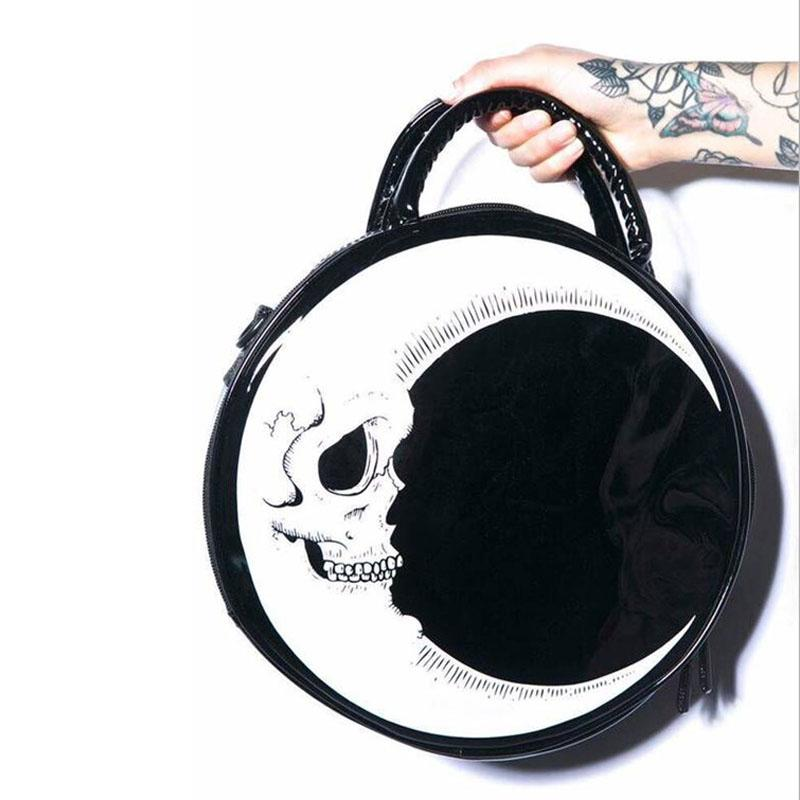Moon Dark Skull Head Bag - BLACK RABBIT STORE