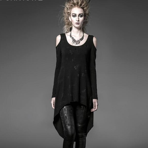 Xtreme Gothic Long Cardigan - BLACK RABBIT STORE