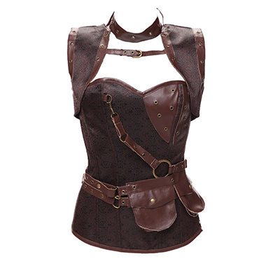 Steampunk Bustier Corselet with Collar