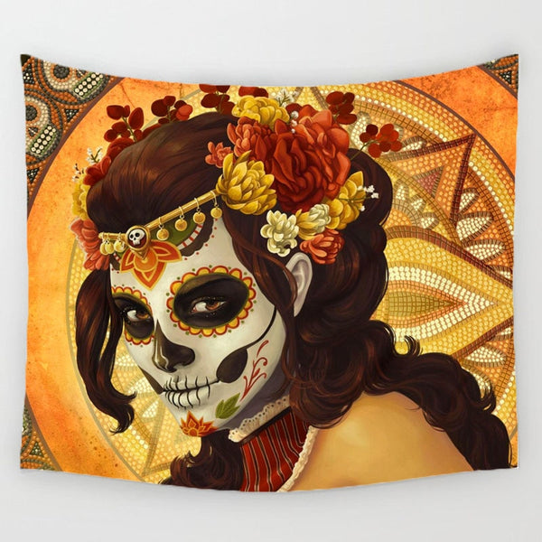 Sugar Skull Girl Tapestry