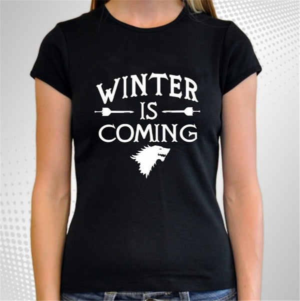 Winter Is Coming T-Shirt - BLACK RABBIT STORE