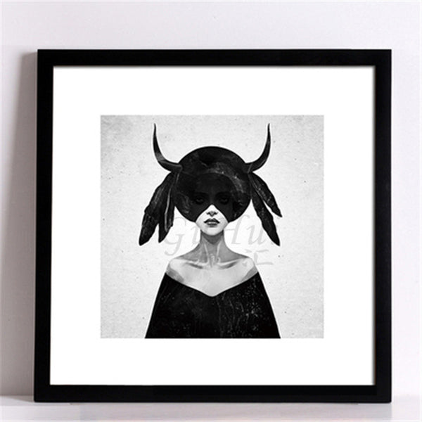 Nordic Lady Canvas Painting - BLACK RABBIT STORE