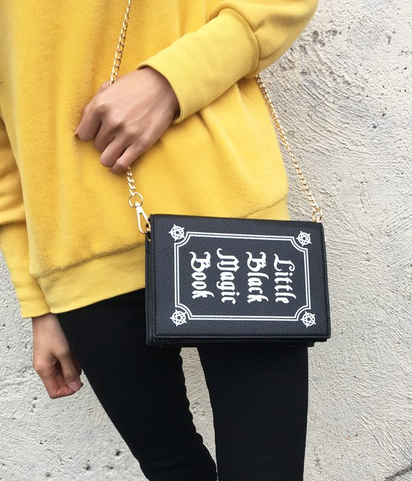 Black Magic Book Handbag - BLACK RABBIT STORE