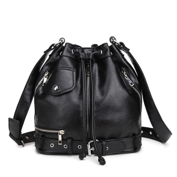 Gothic Motorcycle Bucket Tote - BLACK RABBIT STORE