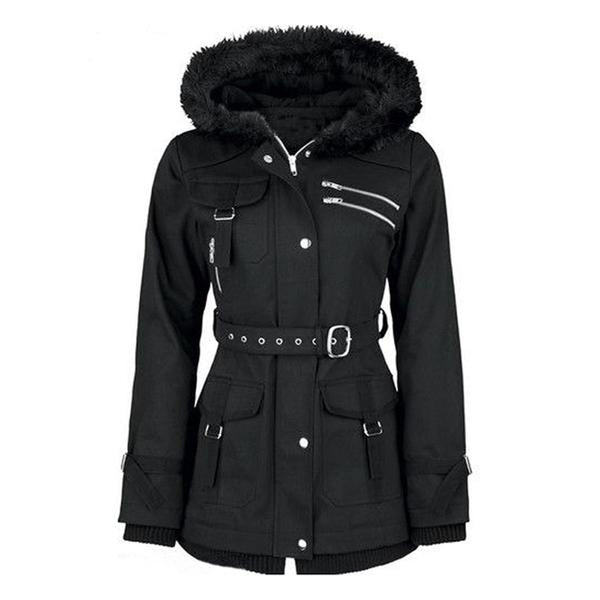 Gothic Sequined Parka - BLACK RABBIT STORE