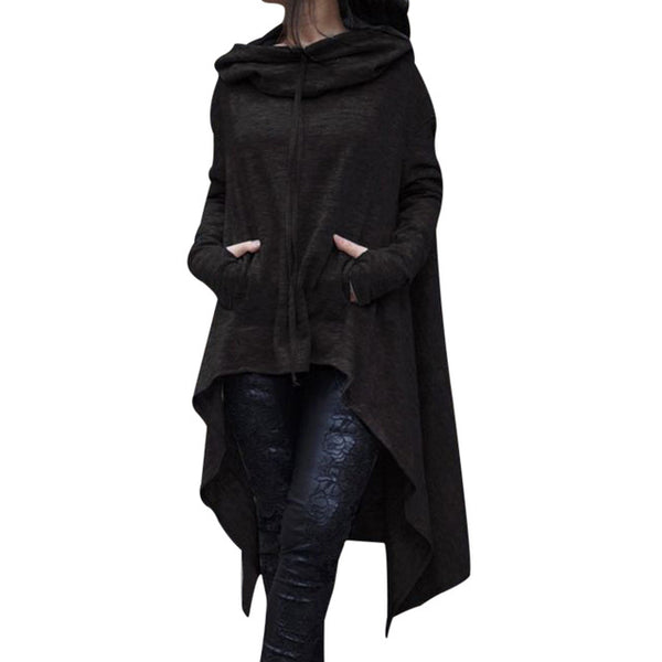 High Low Gothic Cloak - BLACK RABBIT STORE
