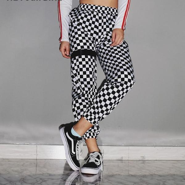 Punky Checkered Plaid Pants - BLACK RABBIT STORE