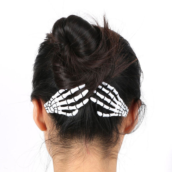 Skeleton Hair Clips (Set of 4) - BLACK RABBIT STORE