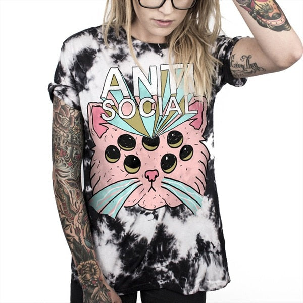Anti-Social T-Shirt - BLACK RABBIT STORE