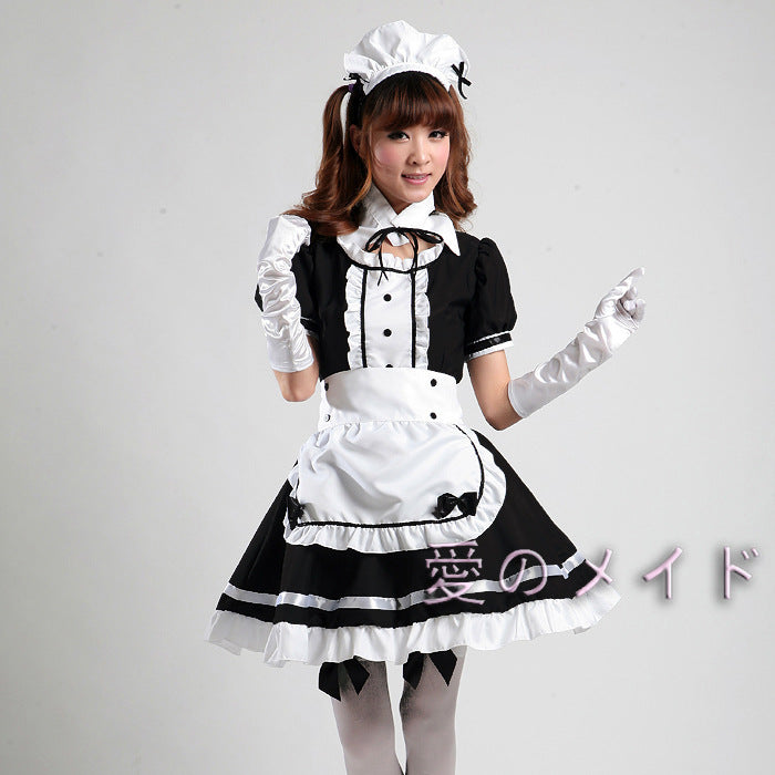 Sexy French Maid Costume - BLACK RABBIT STORE