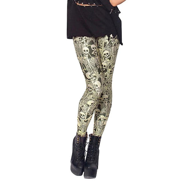 Golden Skulls Dancing Everyday Leggings