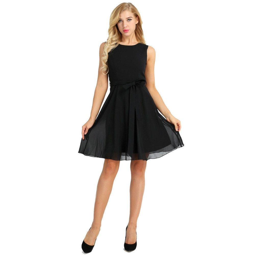 Annora Elegant Solid Dress - BLACK RABBIT STORE