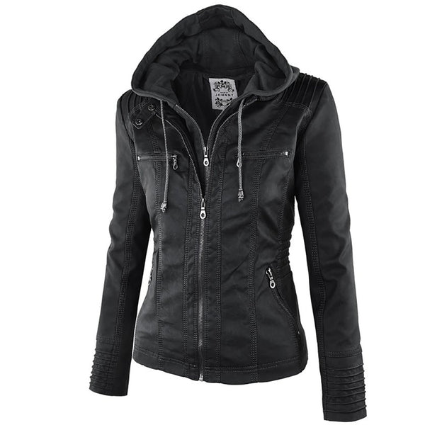 Punk Hooded Motorcycle Jacket