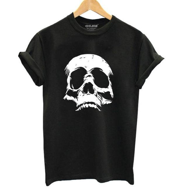 Scary Skull T-Shirt - BLACK RABBIT STORE