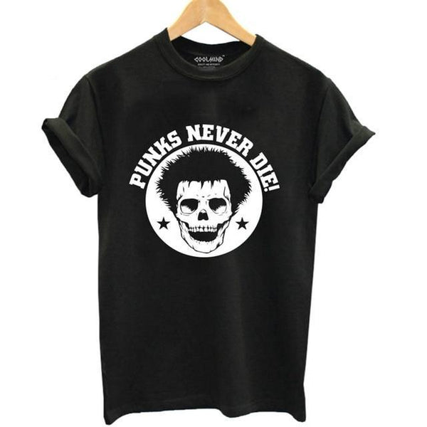 Punks Never Die T-Shirt - BLACK RABBIT STORE