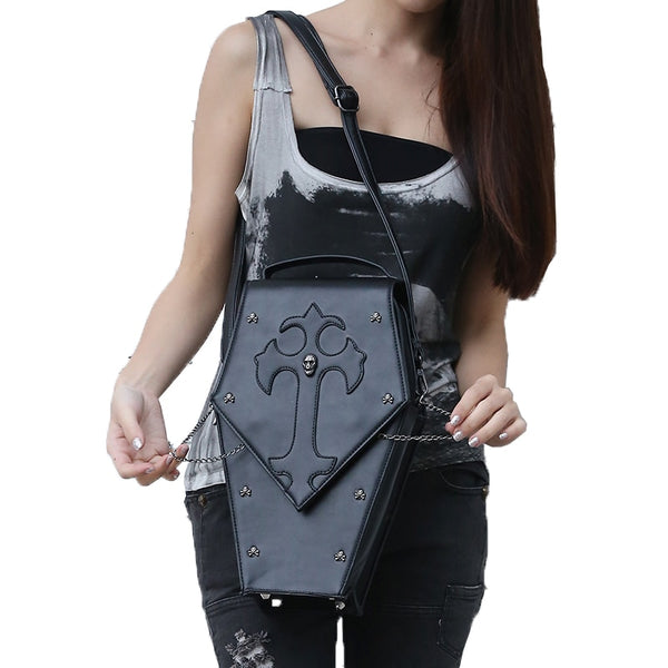 Cross Your Coffin Crossbody Bag - BLACK RABBIT STORE