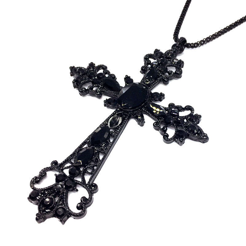 Gothic Cross Necklace & Pendant - BLACK RABBIT STORE
