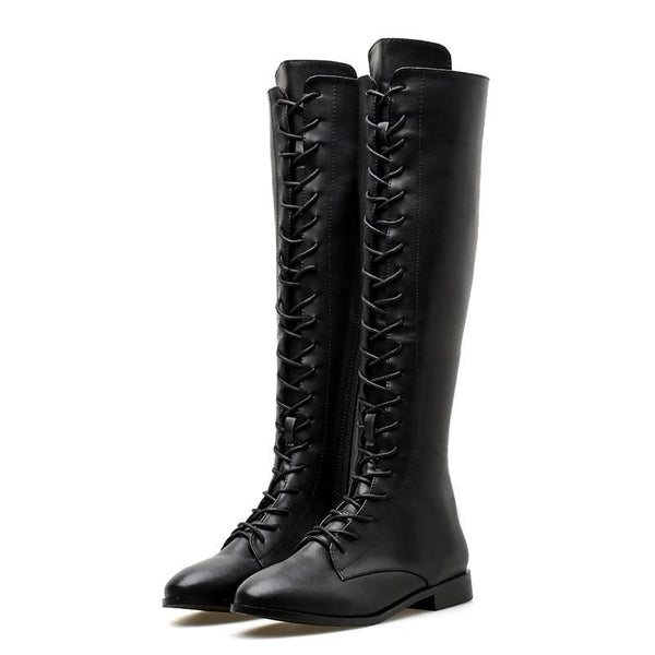 Amaris Knee High Boots - BLACK RABBIT STORE