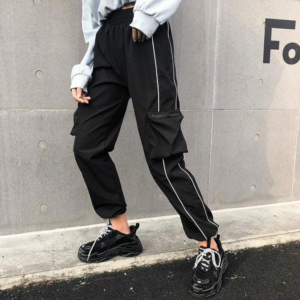 Striped Gothic Cargo Pants