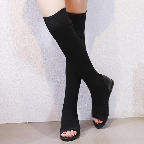 Darkothica Over The Knee Boots - BLACK RABBIT STORE