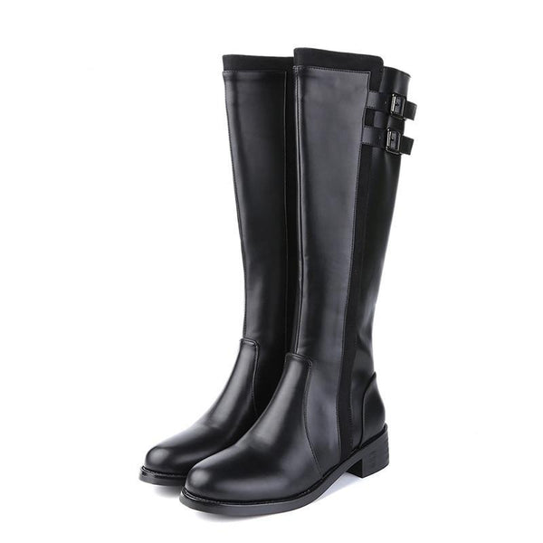 Branwen Knee High Gothic Boots - BLACK RABBIT STORE