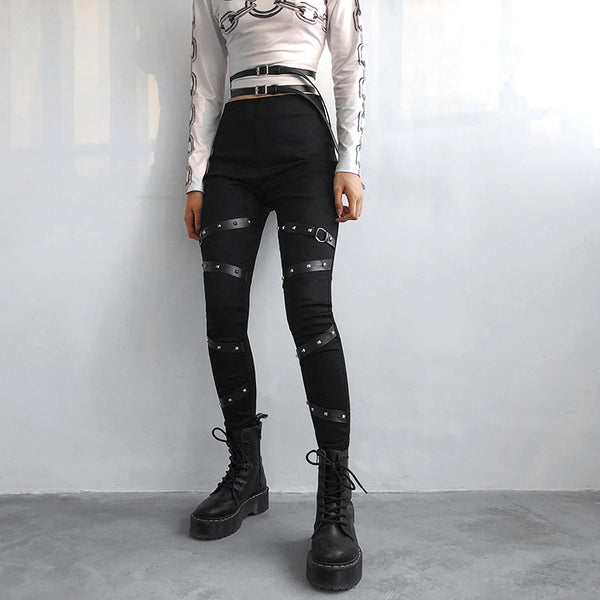 Punk Desires Pencil Pants - BLACK RABBIT STORE