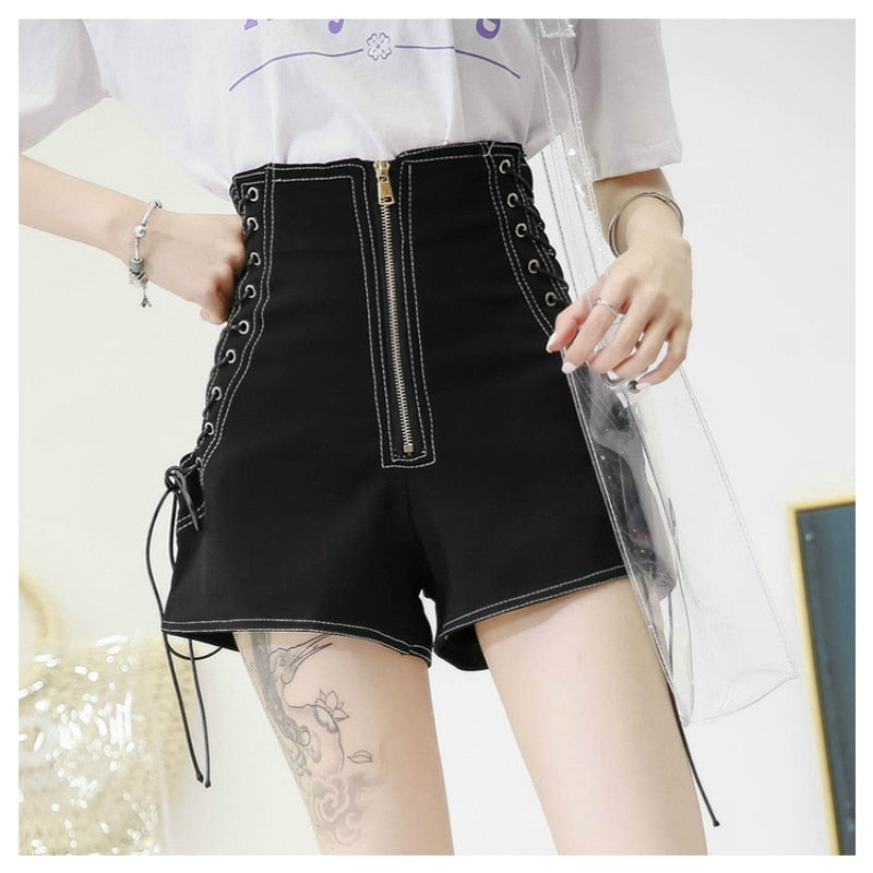 Toxic Diva Punky Shorts - BLACK RABBIT STORE