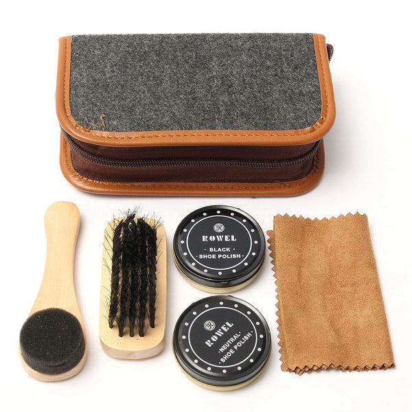 Shoe Shine Care Kit - Six Pieces - BLACK RABBIT STORE