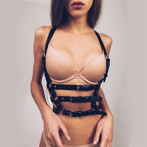 Shades of Night Leather Harness - BLACK RABBIT STORE