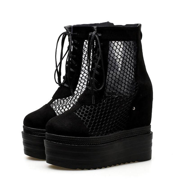 Myrtle Gothic Mesh Shoes - BLACK RABBIT STORE