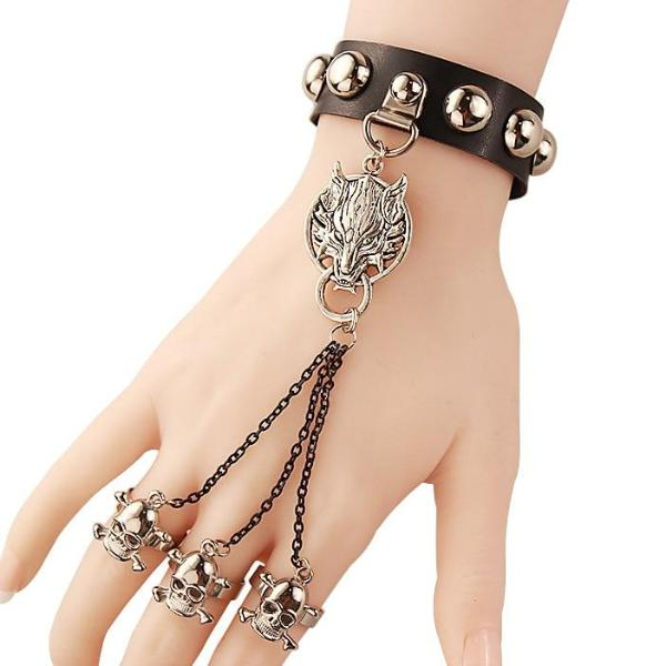 Slave Bracelet Finger Ring Set