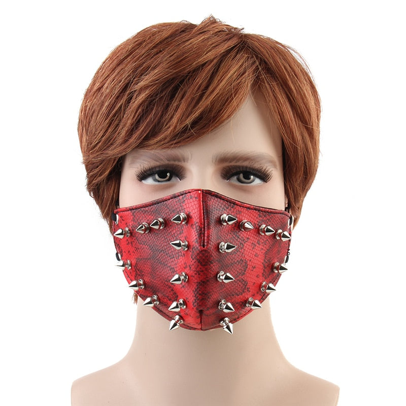 Punky Spiked Red Mask