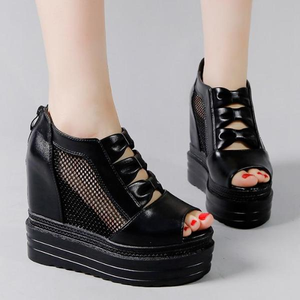 Cemetery Creeper Platform Wedges - BLACK RABBIT STORE