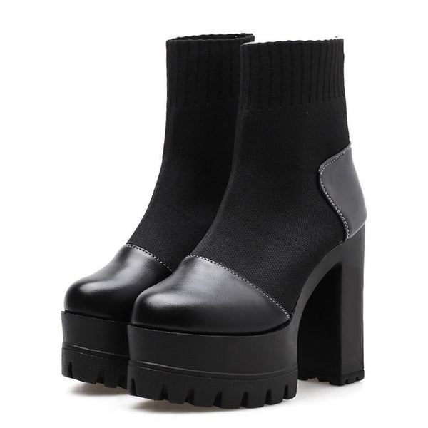 Narcissa Gothic Ankle Boots - BLACK RABBIT STORE