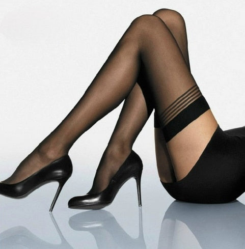 Gothic Black Tight Stockings - FREE - BLACK RABBIT STORE